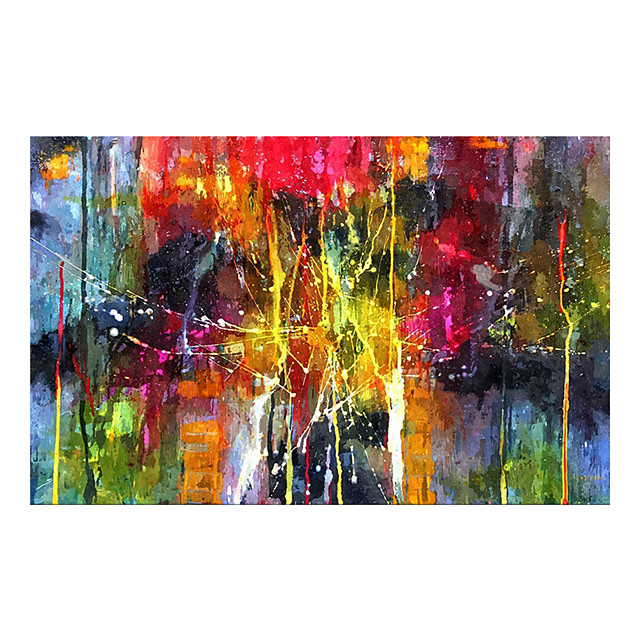 Oil Painting Hand Painted Horizontal Abstract Classic Modern Rolled Canvas (No Frame)