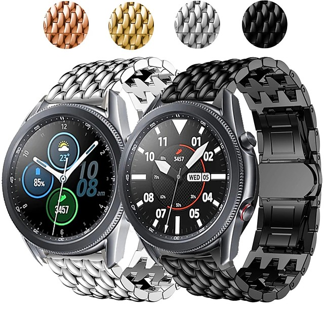 Watch Band for Galaxy Watch 3 45mm Samsung Galaxy Business Band Stainless Steel Wrist Strap