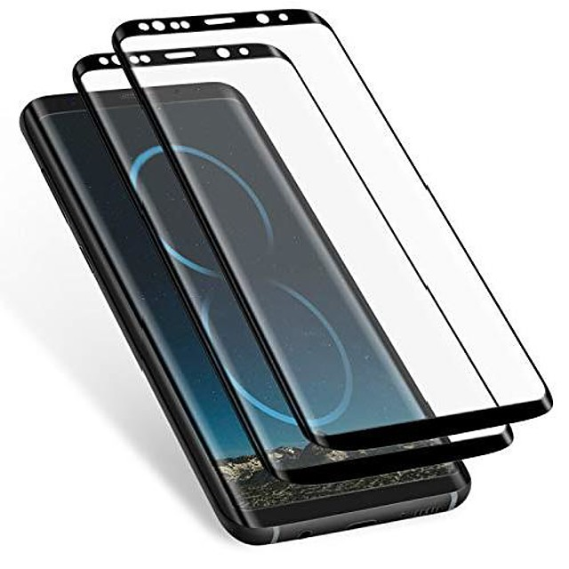 Galaxy S8 Plus Screen Protector (2 Pack) Anti-scratch Hd Clear, Case Friendly 3d Curved Protective Tempered Glass Cover For Samsung Galaxy S8 Plus (not Galaxy S8) (black)