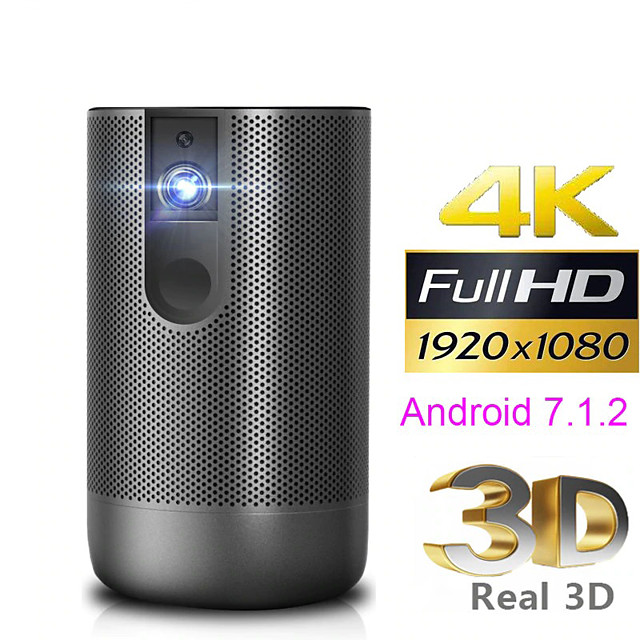 Full HD Projector Android 7.0 (2G16G) support 4K 3D ZOOM video game