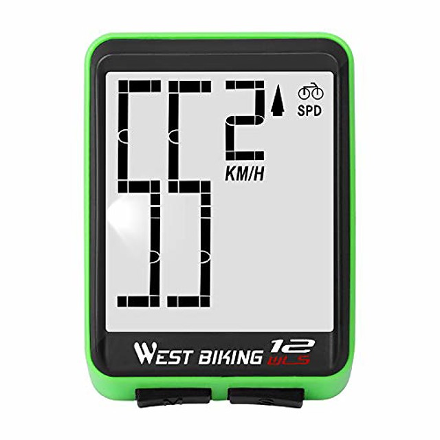 Fahrrad Computer drahtlos, Fahrrad Tacho Kilometerzähler große Ziffern automatische Geschwindigkeitsanzeige ändern, wasserdichte el Hintergrundbeleuchtung Fahrrad Computer