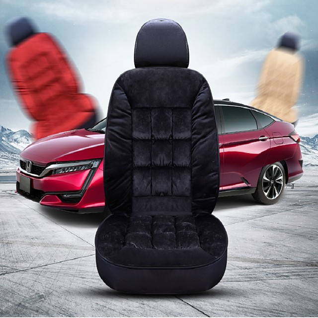 Plush Car Seat Cover Winter Automobiles Seat Covers Warm Seats Cushion Pads Protector Back Carpet Mats Auto Interior Accessories