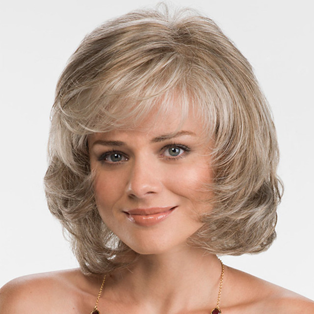 Synthetic Wig Bouncy Curl Bob Asymmetrical Wig Blonde Short Blonde Synthetic Hair Women's Fashionable Design Exquisite Fluffy Blonde