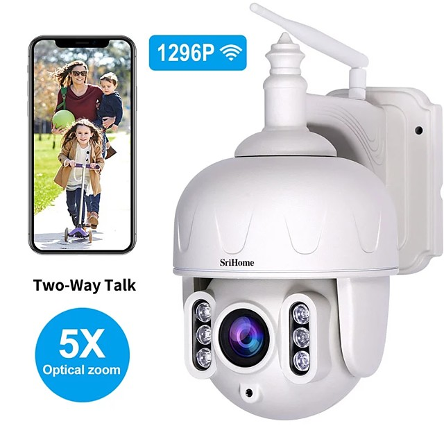 Sricam SH028 3.0MP Outdoor IP Camera Waterproof 5X Optical Zoom Wifi Camera 360 P2P 2-Way Audio Wireless Surveillance CCTV PTZ