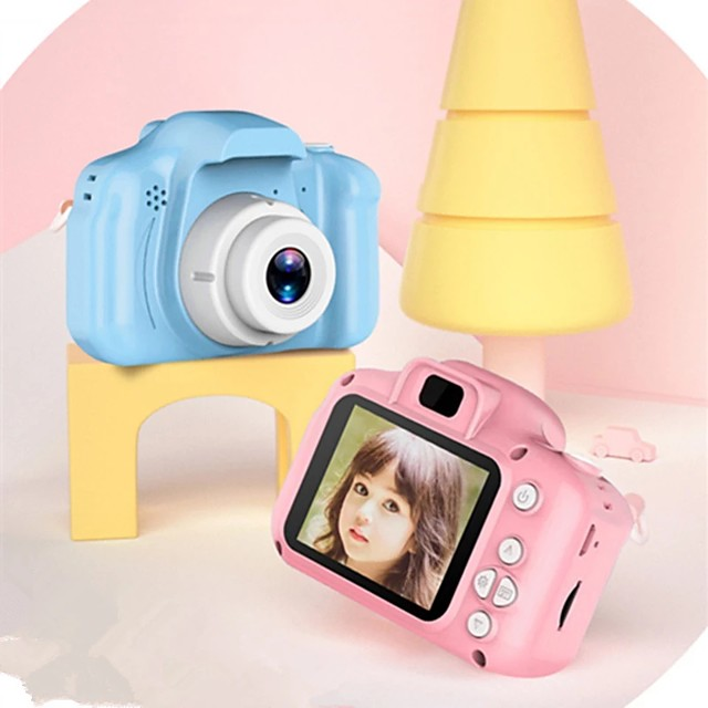 Mini Children Camera  Digital Camera Toys for Kids 2 Inch HD Screen Chargable Photography Props Cute Baby Child Birthday Gift Outdoor Game Christmas Gift