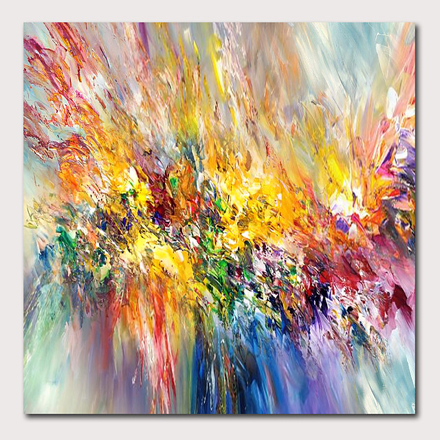 Oil Painting Hand Painted - Abstract Landscape Contemporary Modern Stretched Canvas