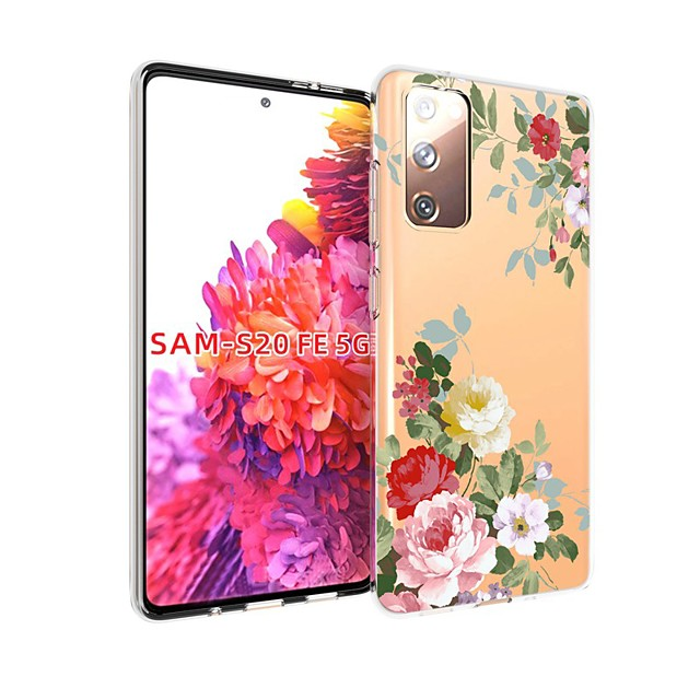 Case For Samsung Galaxy S20 FE Transparent Pattern Back Cover Flower TPU Soft Galaxy S20 Plus Note 20 Ultra Note 10 Plus A11 A21S A31 A41 A51 A71 A81 A91