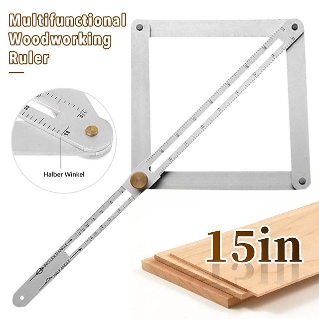 Multifunctional Diagonal Ceiling Profiler Four-fold Diagonal Protractor