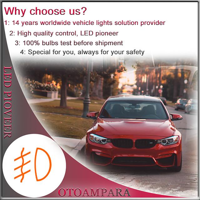 OTOLAMPARA 2PCS Car LED Bulb H8 Special for Infiniti M37/ G37/ QX60/ Volkswagen Phaeton/ Magoten/ Sagitar/ Jetta/ Toyota Corolla/ Hilux/ Camry 100% Aluminium Heat Removal IP68 Waterproof LED Bulb H11