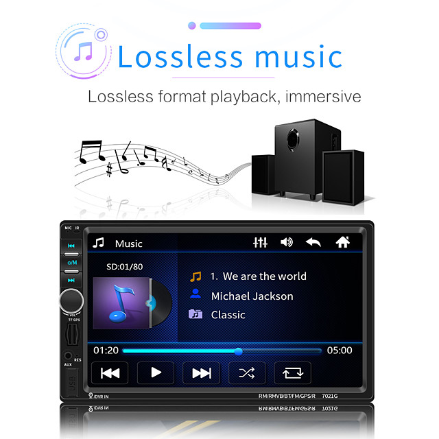 1781e 1 din masina mp3 player mp3 / built-in bluetooth pentru suport universal microusb mp3 / wma / wav