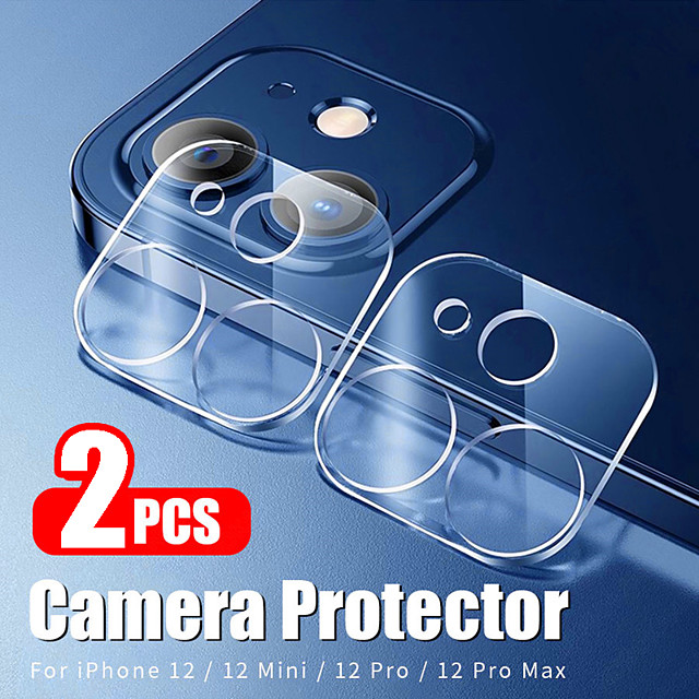 2Pcs Camera Lens Protective Film For iPhone 12 Pro Max Camera Tempered Glass Screen Protector For iPhone 12 mini iPhone 11 X Xs Xr Xs Max 7 8 Plus