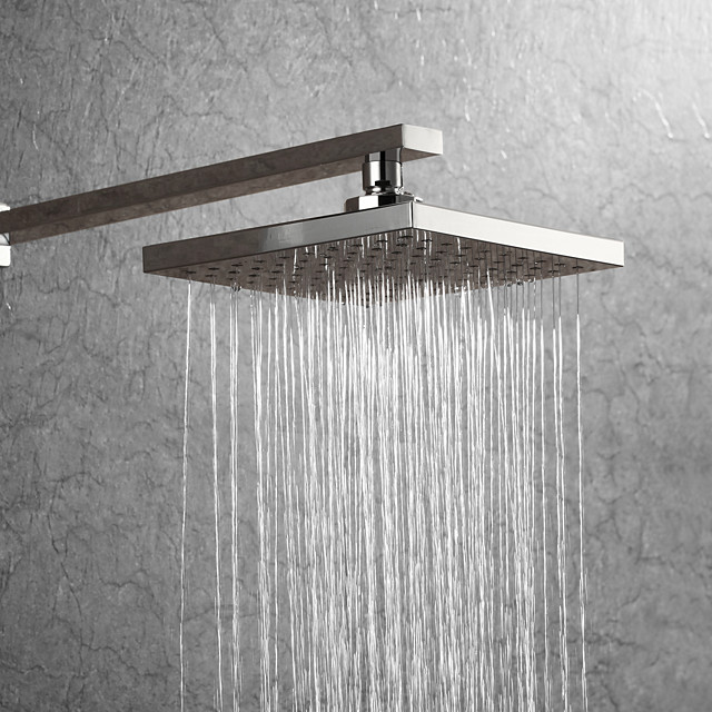 7.9 Inch Basics Rainfall Shower Head Rectangular/Contemporary Shower Head Polished Chrome