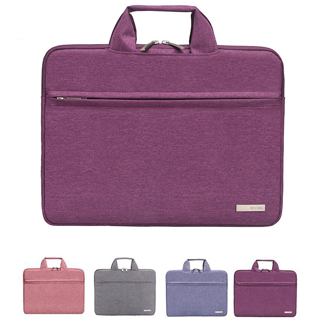 12 Inch Laptop / 13.3 Inch Laptop / 14 Inch Laptop Sleeve / Briefcase Handbags / Tablet Cases Polyester Solid Colored / Textured for Men for Women for Business Office Waterpoof Shock Proof