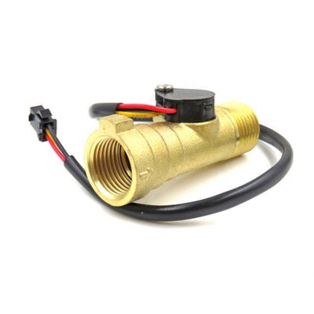 Electronic Flow Meter Electronic Flow Sensor solar water heater water flow meter G1/2 YF-B8 0.3-10L/M Magnetic valve
