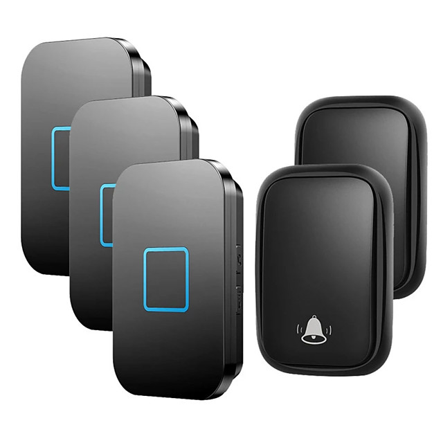 CACAZI No Battery Required Self-powered Wireless Doorbell Waterproof 150M Remote Ring Door Bell