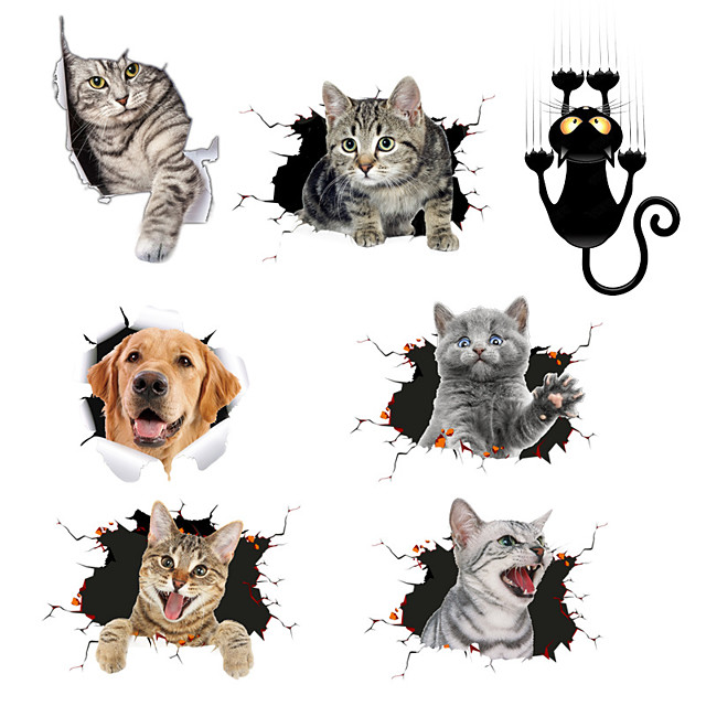 1# / 2# / 3# Car Stickers Individuality / Cute Door Stickers / Full Car Stickers Animal 3D Stickers