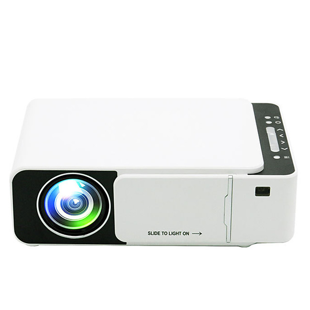 T5 LED Projector 800*480 Native Resolution 1080 HD Portable Video Projector WIFI Reay USB HDMI SD Audio Beamer for Home Cinema(Cannot connect to mobile phone)