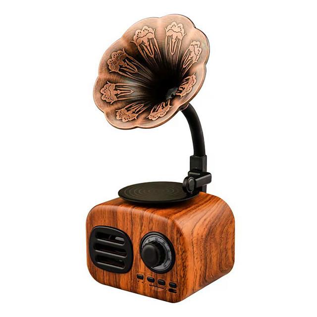 Wireless Loudspeaker Retro Wood Portable Mini Bluetooth Speaker Sound System TF FM Radio Music Subwoofer