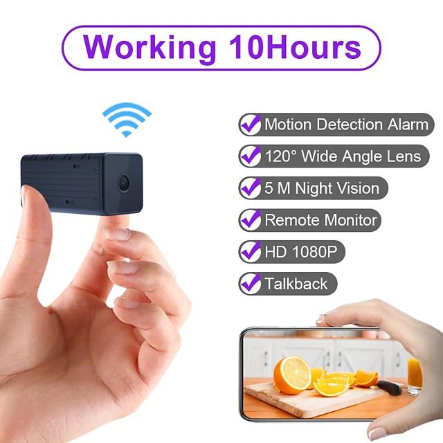 wd9 hordozható wifi ip mini kamera p2p éjjellátó vezeték nélküli mikrokamerás videofelvevő támogatja a telefon távoli nézetét