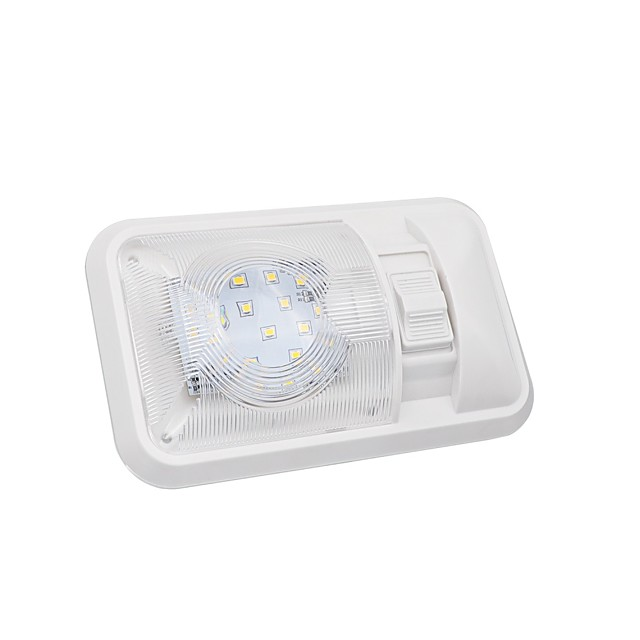 1 Pcs 3.5W Neutral White 24 LED 12V Caravan RV Jeep Fixture Single Dome Interior Light