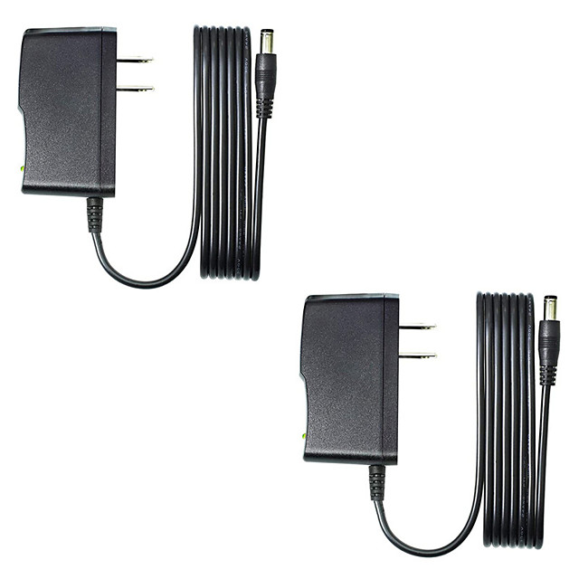 2pcs 9V 1A DC Power Adapter EU 5.5mm*2.1mm Interface Power Supply AC 100-240v Adapter for Arduino 9V 1A
