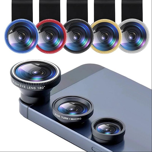 Phone Lens Fisheye 0.67x Wide Angle Zoom Lens Fish Eye 10x Macro Lenses Camera Kits With Clip Lens On The Phone For Smartphone