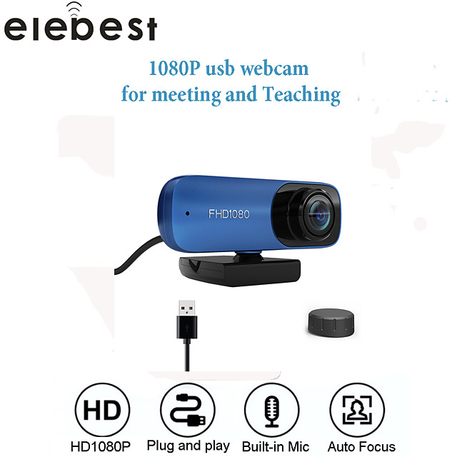 Webcam 8MP Full HD Web Camera Built-in Microphone USB Plug Auto Focus Web Cam For PC Computer Mac Laptop YouTube Camera