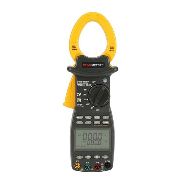 Ms2203 Three-phase Power Meter Intelligent High-precision Apparent Clamp Power Tester