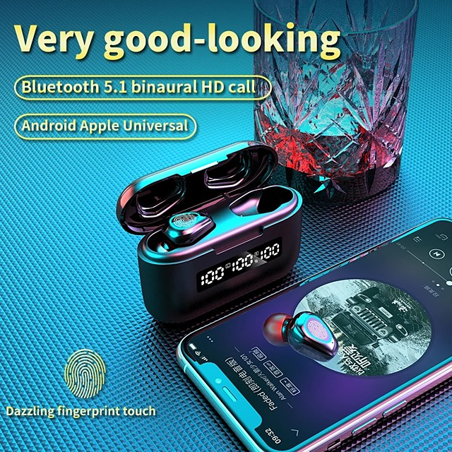 TWS G40 Wireless Earphone Bluetooth Earbuds 9D HD Touch Control LED Bluetooth 5.0 Earphone Universal Earphone