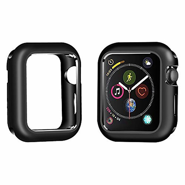 compatible apple watch case 44mm,  aluminum magnetic frame 360° degree smartwatch case protective cover iwatch case (series 4) (black)