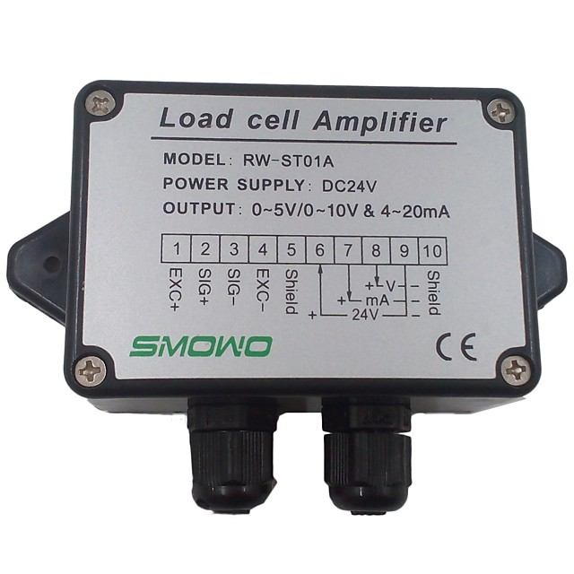 Pressure sensor output amplifier 0-10v 4-20ma transmitter RW-ST01A weighing force measurement balance load cell amplifier