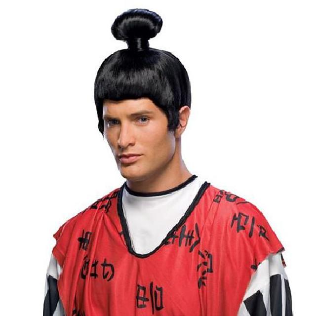 japanische Samurai Perücke, schwarz, eine Größe