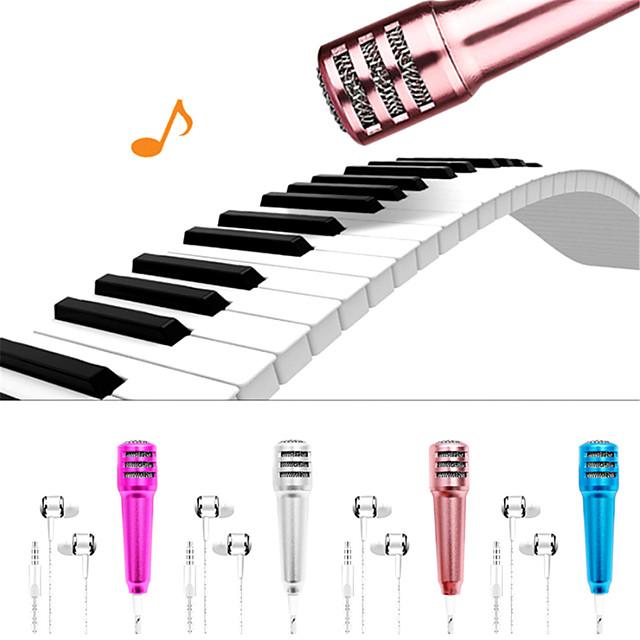 K Song Portable 3.5mm Stereo Studio Mic KTV Karaoke Mini Microphone For Smart Phone Laptop PC Desktop Handheld Audio Microphone