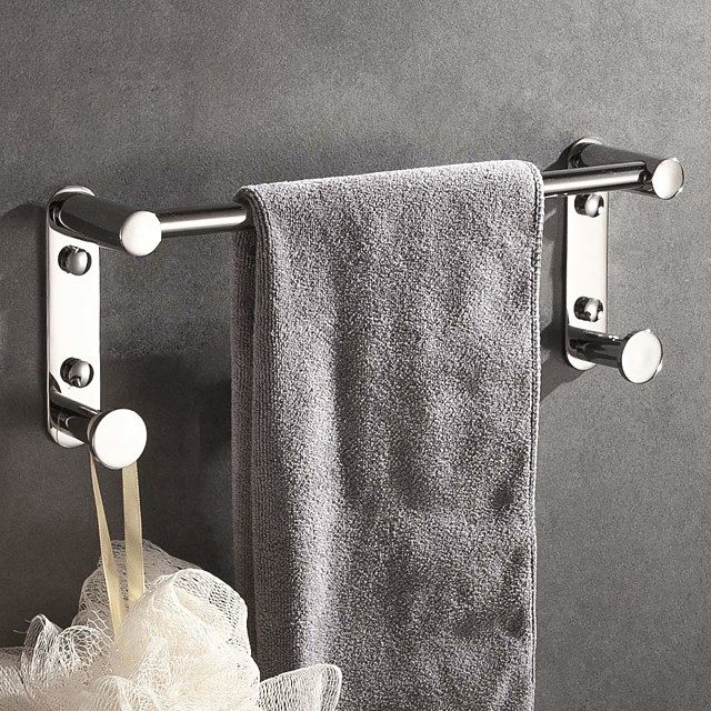 Bathroom Hardware Accessory Include Towel Bar Robe Hook Wall Mounted 304 Stainless Steel - 1pc
