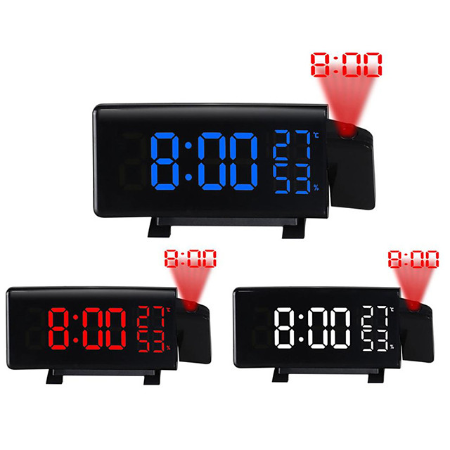 TS-5210 Projection LED Alarm Clock New Creative Digital Clock with Radio Snooze and Timer LED Temperature Display FM Radio and Three Colors