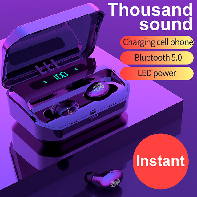 LITBest G12 Wireless Earbuds TWS Headphones Bluetooth5.0 Stereo with Charging Box for Travel Entertainment