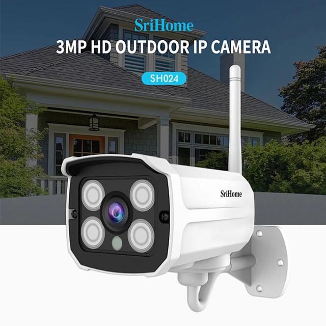 Sricam SH024 HD 3MP 1296P Wireless IP Camera Onvif Outdoor WaterProof P2P Network Motion Detection Bullet Surveillance Cameras