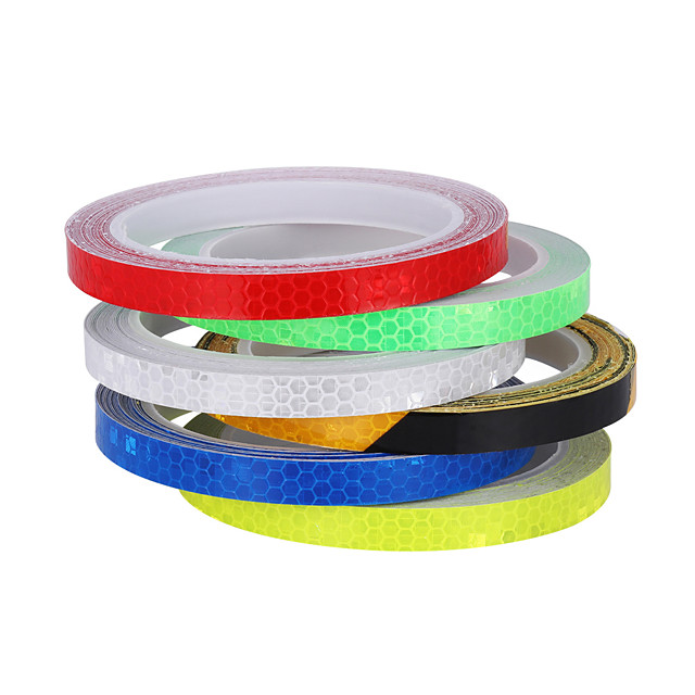 1PC Vinyl Motorcycle Rim Tape Reflective Wheel Stickers Decals Car Warning Stickers Motorbike Styling Decor Tool Accessories