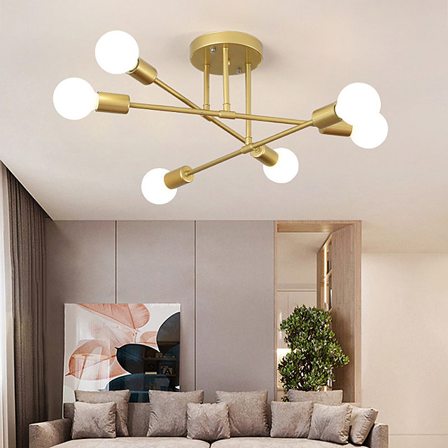 70 cm Sputnik Design Nordic Style Ceiling Light Flush Mount Metal Industrial Mismatched Painted Finishes Contemporary Traditional Classic 110-120V 220-240V