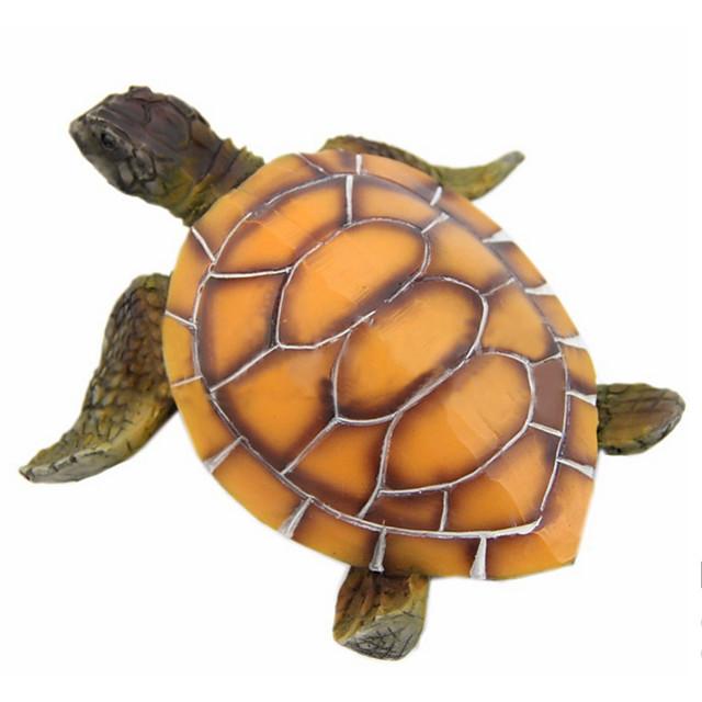 1pc Aquarium Ornament Resin Polyresin Turtle Tortoise Fish Tank Decoration