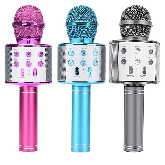Integrated Microphone Portable Bluetooth Karaoke Microphone Wireless Professional Speaker Home KTV Handheld Microphone