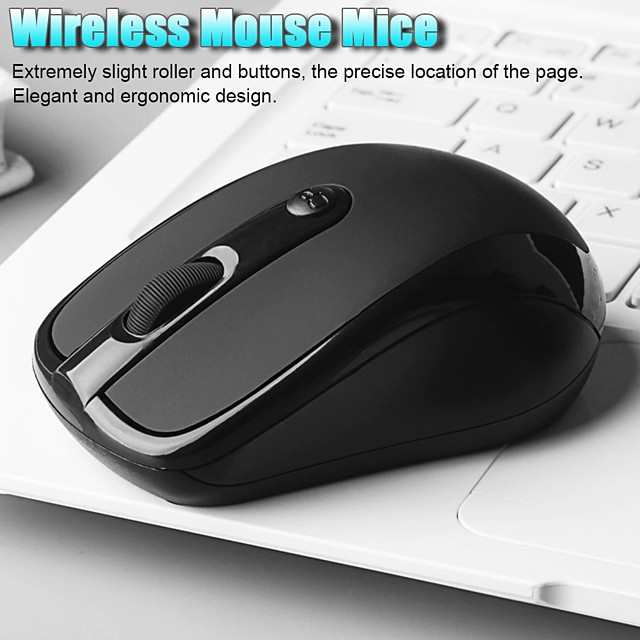 USB Wireless mouse 1600DPI Adjustable Receiver Optical Computer Mouse 2.4GHz Ergonomic Mice For Laptop PC Mouse