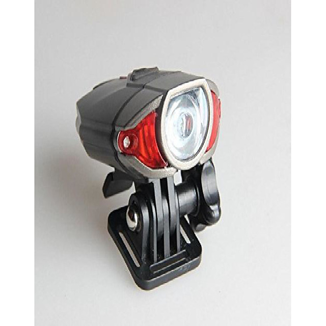 mountain bike bicycle lamp headlight taillight usb charging bicycle safety warning, dotted red