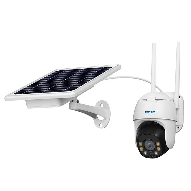 ESCAM QF130 1080P PT WIFI PIR Alarm IP Camera With Solar Panel Full Color Night Vision Two Way Audio IP66 With Battery