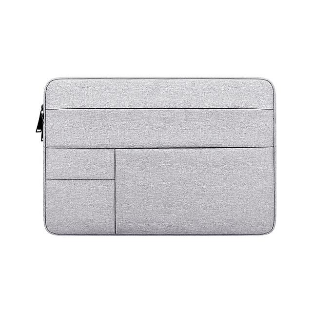 Unisex Waterproof Walking Oxford Cloth Laptop Bag Zipper Solid Color Daily Office & Career Dark Grey Black Navy Blue Pink