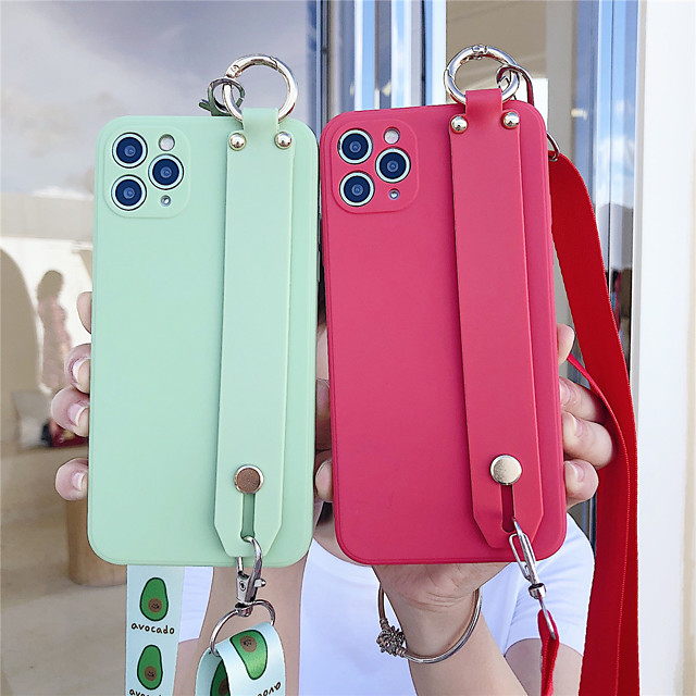 Case For Apple iPhone 12 / iPhone 12 Mini / iPhone 12 Pro Max with Stand Back Cover Solid Colored TPU