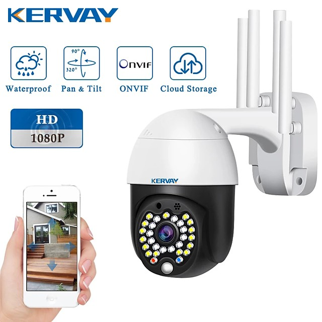 1080P PTZ IP Camera Wireless Wifi Speed Dome Security Camera Pan Tilt 4X Digital Zoom Wifi Outdoor 2MP Network CCTV Surveillance