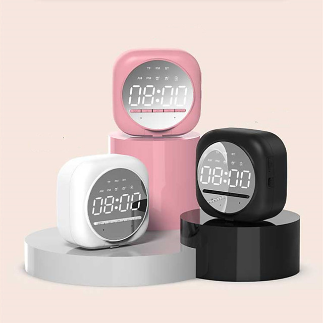 Q12 Multifunctional Alarm Clock with Bluetooth 5.0 Subwoofer Speaker with TF Card Holder