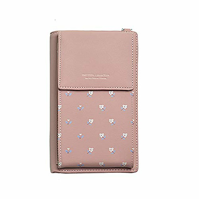 small crossbody shoulderbag leather cell phone purse with card holder for women