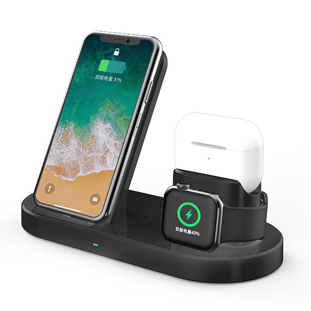 3 in 1 Fast Wireless Charger Dock Station Fast Charging For iPhone Apple Watch 2 3 4 5 AirPods Pro